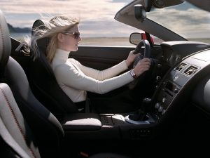Image with Woman driving